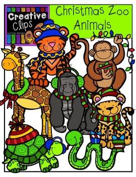 Christmas Clipart Zoo Animals Clipart {Creative Clips Clipart}