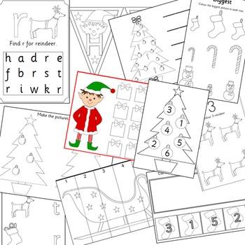Christmas activities -craftivity, maths.literacy