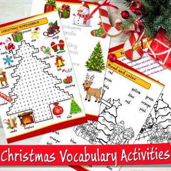 Christmas wordsearch, coloring pages and more activities - word search