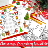 Christmas wordsearch, coloring pages and more activities -