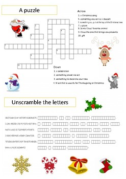 Christmas activities: printables games ready-to-use
