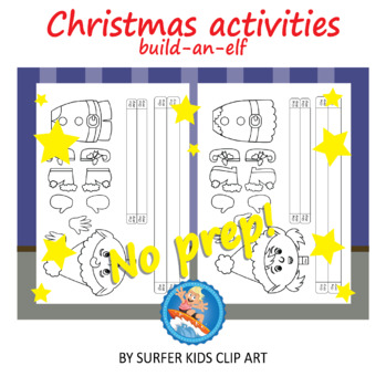 Christmas activity - The elves, paper craft