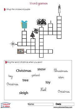 Christmas activity book - 3-6 years old