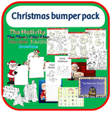 Christmas activity bumper pack containing songs, activities, coloring and more