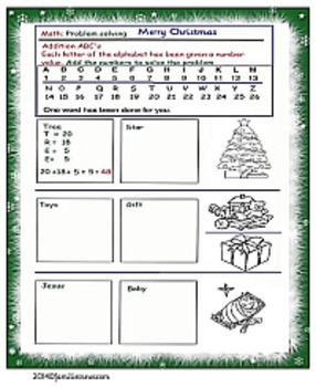 Christmas activity-math