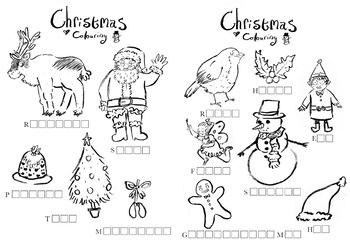 Christmas activity sheets and cue cards