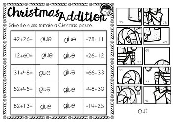 Christmas addition - 2 digit numbers with no re-grouping