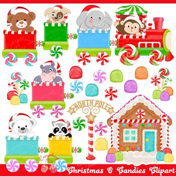 Christmas and Candies Clipart Set
