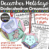 Christmas and December Holiday Ornament Math Craftivity and Glyph