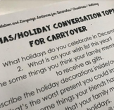 Christmas and December Holiday articulation and language s