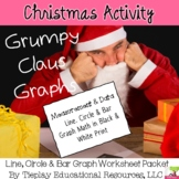 Christmas and Grumpy Graph Math Easy Print Version Worksheet Packet
