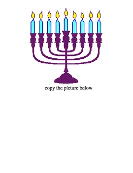 Christmas and Hanakah (Chanukah) cutting, writing and copying worksheets