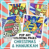 Interactive Holiday Coloring Pages+Writing - Fun Hanukkah or Christmas Activity!