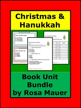 Christmas and Hanukkah Reading Bundle Distance Learning School or At Home
