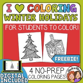 Iheart Christmas.Christmas And Hanukkah I Heart Coloring Free