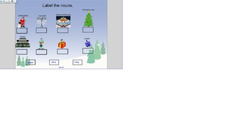 Christmas and Hanukkah Nouns Smart Board Presentation