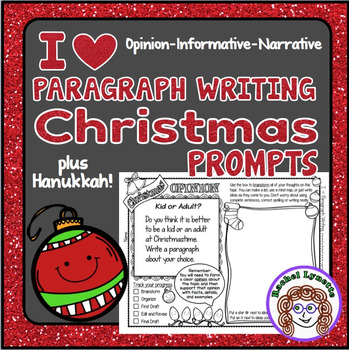 Christmas and Hanukkah Paragraph Writing Prompts - FREE