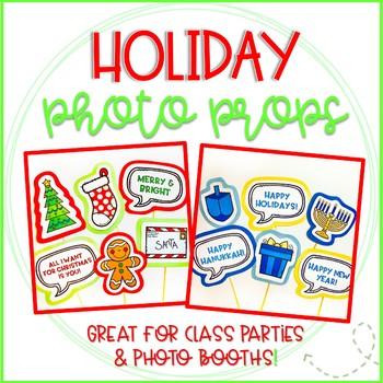 Christmas and Hanukkah Photo Booth Props