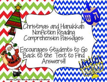 Christmas and Hanukkah Reading Comprehension Passages