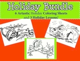 Christmas Coloring Sheets and Primary Holiday Activities (No Prep)