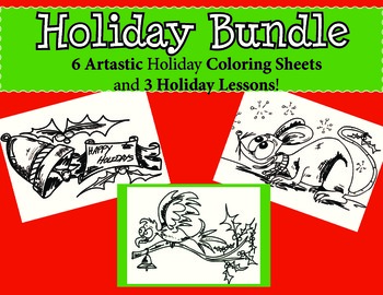 Christmas Coloring Sheets and Primary Holiday Activities (