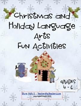 Christmas and Holiday Language Arts Fun Activities