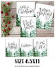 Christmas and Holiday Prints with Watercolor Trees