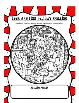 Christmas and Holiday Spelling Worksheets **You can use with any spelling list**