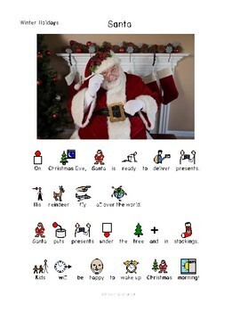 Christmas and Holidays - Symbol Supported Reading Comprehension for Special Ed