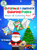 Christmas and Nativity Coloring Pages - Christmas Coloring Activity BUNDLE
