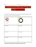 Christmas and New Year 3 digit subtraction