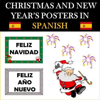 Christmas and New Year's Posters in SPANISH: FELIZ NAVIDAD