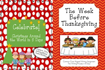 Christmas and Thanksgiving Holiday Pack (Common Core ELA Aligned)