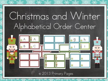 Christmas and Winter Alphabetical Order Center
