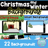 Christmas and Winter Backgrounds for Digital Learning