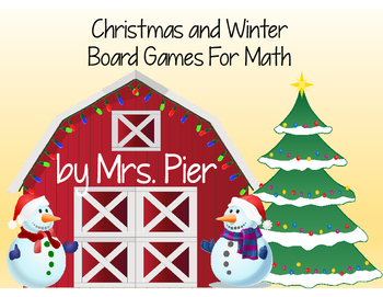 Christmas and Winter Board Games For Math