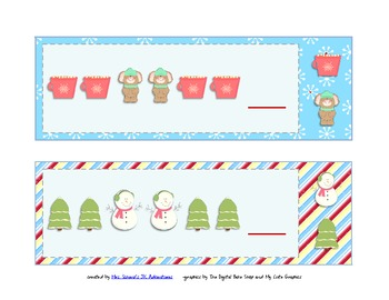 Christmas and Winter Clip A Pattern