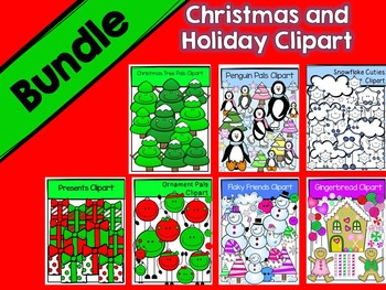 Christmas and Winter Clipart Bundle