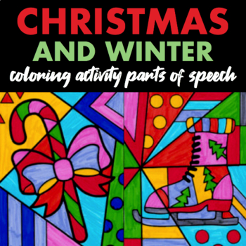 Parts Of Speech Coloring Christmas Worksheets Teaching Resources Tpt