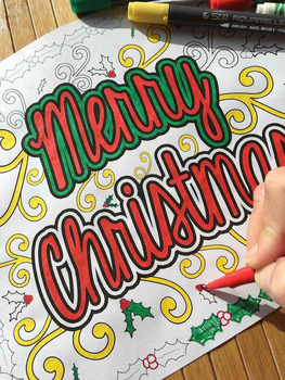 Christmas and Winter Coloring Pages for Adults, Teens