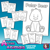 Arctic Animals Winter Coloring Sheets
