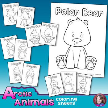 Arctic Animals Winter Coloring Sheets