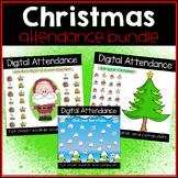 Christmas and Winter Digital Attendance Bundle (Smart Boar