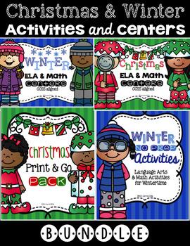Christmas and Winter ELA and Math Bundle