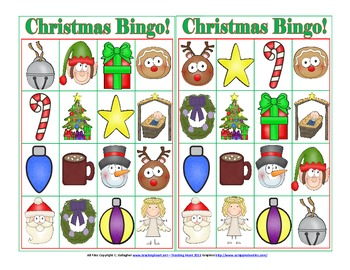 Christmas and Winter Games Bingo, Memory, Roll a Snowman and Decorate a Tree