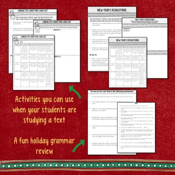 Christmas and Winter Holidays Activities for Secondary ELA