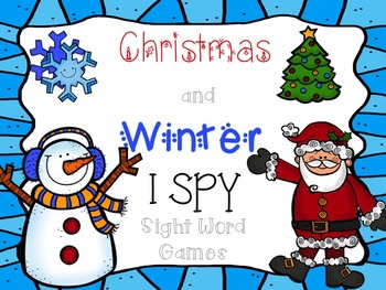 Christmas and Winter I SPY Sight Word Games