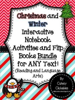 Christmas and Winter Interactive Notebook Activities and Flipbooks  BUNDLE