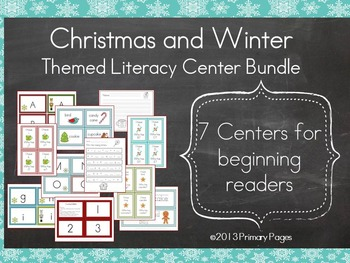 Christmas and Winter Literacy Center BUNDLE