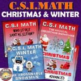 Christmas and Winter Math CSI Activity Bundle - 4 Christma
